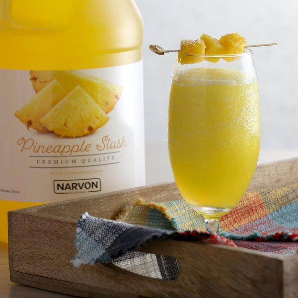 Narvon 1 Gallon Pineapple Slushy Syrup Main Image 2