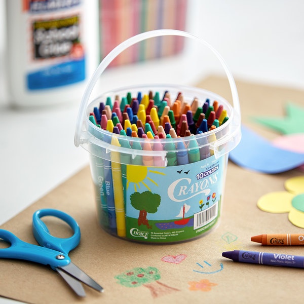 Choice 100-Count Bulk School Crayon Bucket