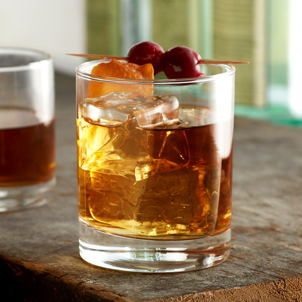 Acopa Straight Up 12 oz. Rocks / Double Old Fashioned Glass - 12/Case Main Image 2