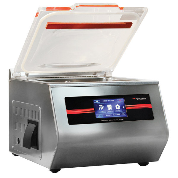 "PolyScience VSCH-400AC1B 400 Series Chamber Vacuum Sealer with 12 1/4"" Seal Bar - 120V"