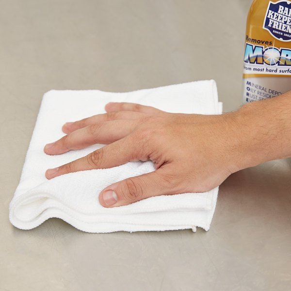 """Carlisle 3633402 16"""" x 16"""" White Terry Microfiber Cleaning Cloth"""