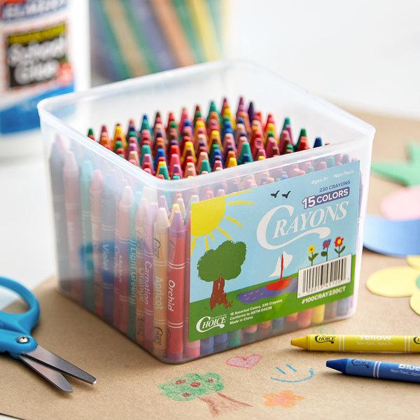 Choice 230-Count Bulk School Crayon Bucket