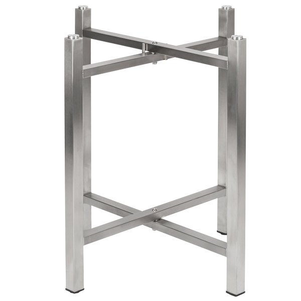 """Bon Chef 50430 Flex-X 30"""" Foldable Stainless Steel Dining Height Table Base Main Image 1"""