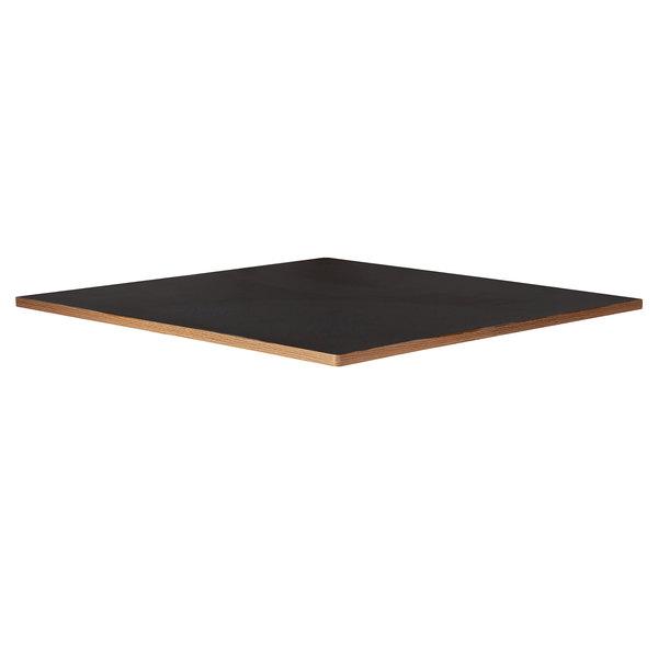 "Bon Chef 50410-1-S-BLACK Flex-X 36"" x 36"" Black Square Counter / Bar Height Table Top Main Image 1"