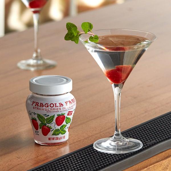 Fabbri 8 oz. Candied Wild Strawberries in Glass Jar