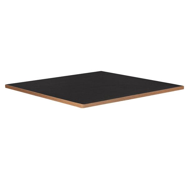 "Bon Chef 50430-S-BLACK Flex-X 30"" x 30"" Black Square Dining Height Table Top Main Image 1"
