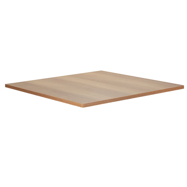 "Bon Chef 50430-S-OAK Flex-X 30"" x 30"" Oak Square Dining Height Table Top Main Image 1"