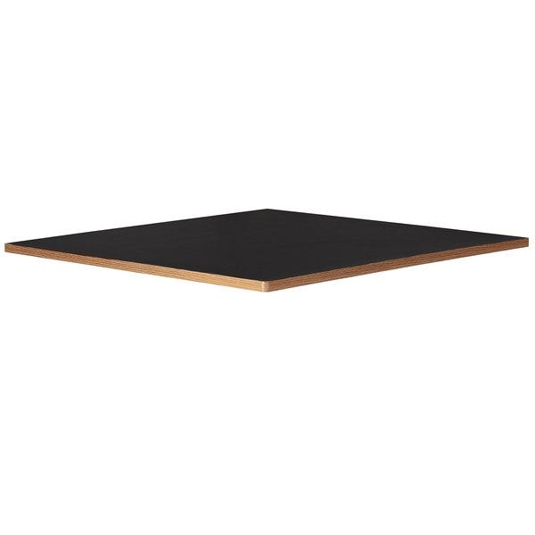 "Bon Chef 50400-1-S-BLACK Flex-X 30"" x 30"" Black Square Counter / Bar Height Table Top Main Image 1"