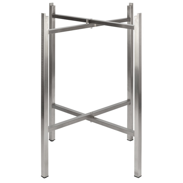 """Bon Chef 50410 Flex-X 36"""" Foldable Stainless Steel Counter Height Table Base Main Image 1"""