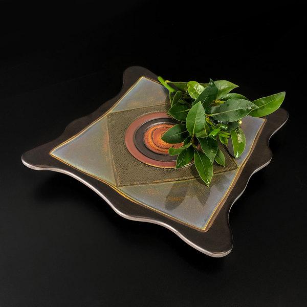 """Elite Global Solutions V10511 Earth Elements 11"""" Multi-Color Square Melamine Platter Main Image 3"""