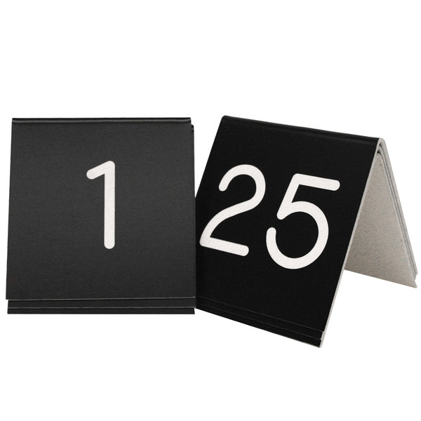 Tent Style Engraved Table Numbers 1-99