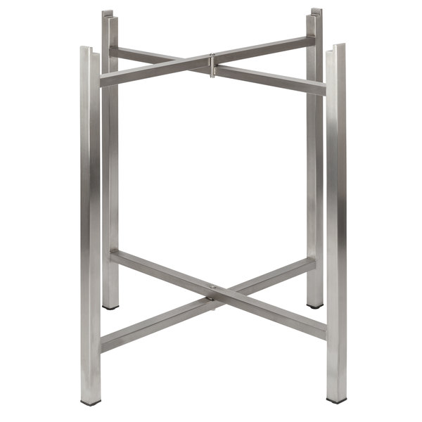 """Bon Chef 50401 Flex-X 30"""" Foldable Stainless Steel Table Bar Height Base Main Image 1"""