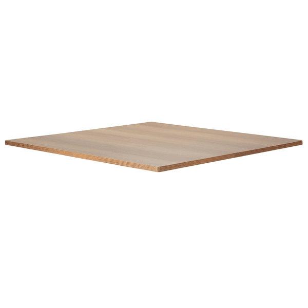 "Bon Chef 50410-1-S-OAK Flex-X 36"" x 36"" Oak Square Counter / Bar Height Table Top Main Image 1"