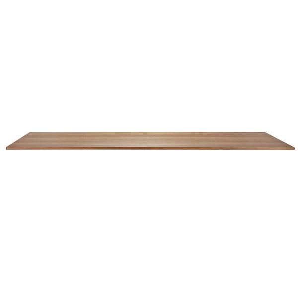 "Bon Chef 50420-S-OAK Flex-X 72"" x 34"" Oak Rectangular Counter / Bar Height Table Top Main Image 1"
