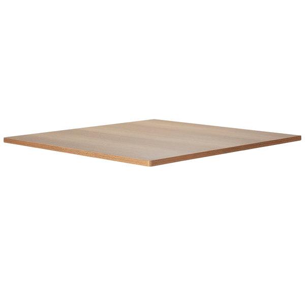 "Bon Chef 50400-1-S-OAK Flex-X 30"" x 30"" Oak Square Counter / Bar Height Table Top Main Image 1"