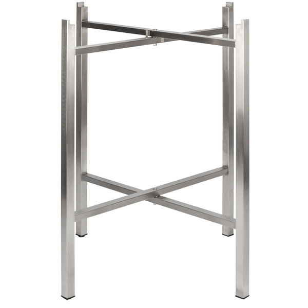 """Bon Chef 50411 Flex-X 36"""" Foldable Stainless Steel Bar Height Table Base Main Image 1"""