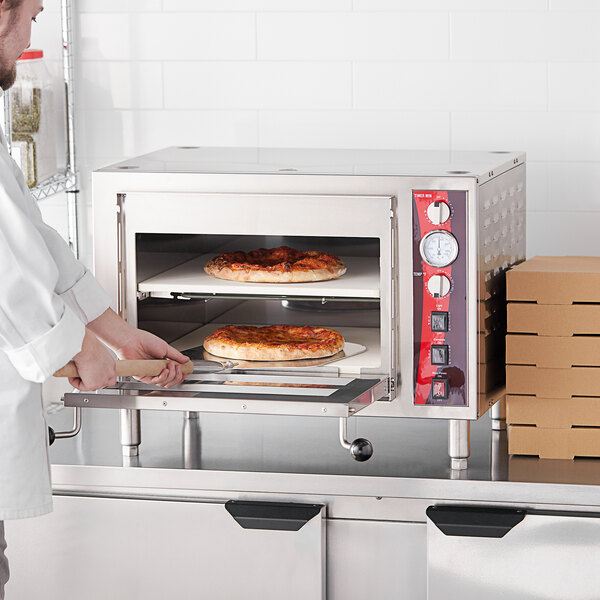 Avantco DPO-18-DS Double Deck Countertop Pizza/Bakery Oven - 3200W, 240V Main Image 5