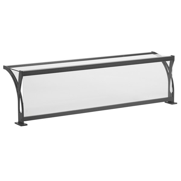 """Vollrath 98419 87"""" Progressive Style Single-Sided Cafeteria Six Well Breath / Sneeze Guard with Top Shelf"""
