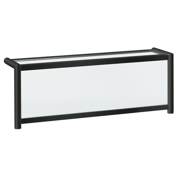 """Vollrath 89269 87"""" Traditional Style Single-Sided Cafeteria Six Well Breath / Sneeze Guard with Top Shelf"""