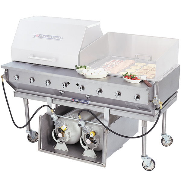"""Bakers Pride CBBQ-30S-CP Liquid Propane 30"""" Ultimate Outdoor Charbroiler with Tank Caddy and Grill Cover Accessories"""
