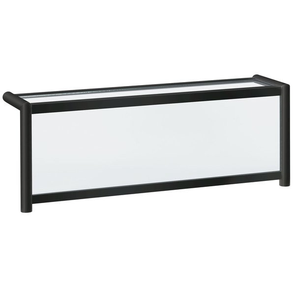 """Vollrath N89268 73"""" Traditional Style Single-Sided Cafeteria Five Well Breath / Sneeze Guard with Top Shelf"""