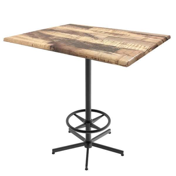 Groovy Holland Bar Stool Od21642Bwod3248Rustic 32 X 48 Rustic Outdoor Indoor Bar Height Table With Foot Rest Base Evergreenethics Interior Chair Design Evergreenethicsorg