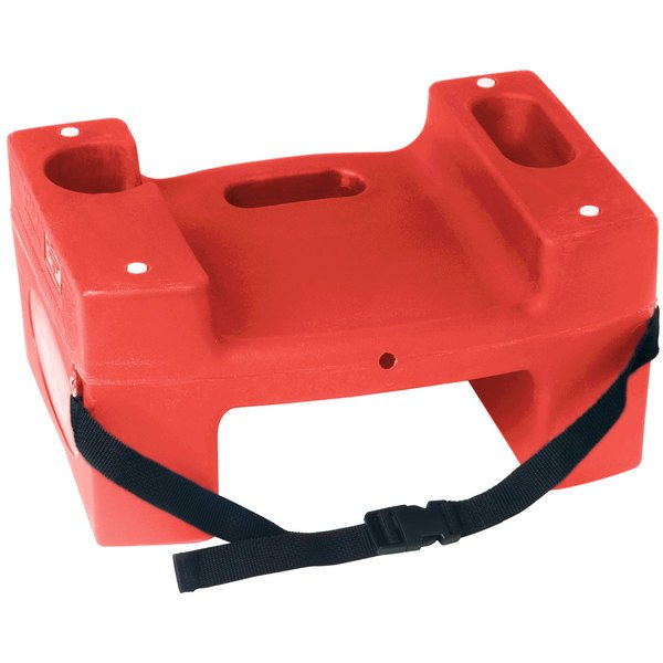Koala Kare Booster Buddies KB117-S-03 Red Plastic Booster Seat - Dual Height with Safety Strap - 2/Pack Main Image 1
