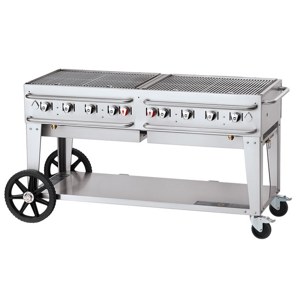 """Crown Verity CV-RCB-60-SI50/100 60"""" Pro Series Outdoor Rental Grill with Single Gas Connection and 50-100 lb. Tank Capacity Main Image 1"""