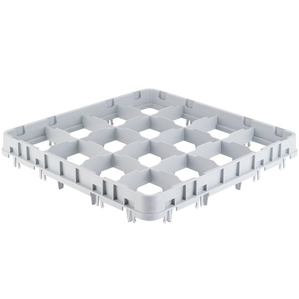 Cambro 16E4151 Camrack 16 Compartment Soft Gray Full Drop Full Size Camrack Stemware Extender Main Image 1