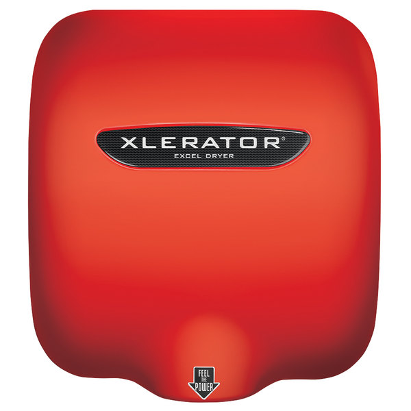 Excel XL-SP-RED XLERATOR® Red Baron High-Speed Hand Dryer - 110 / 120V, 1500W
