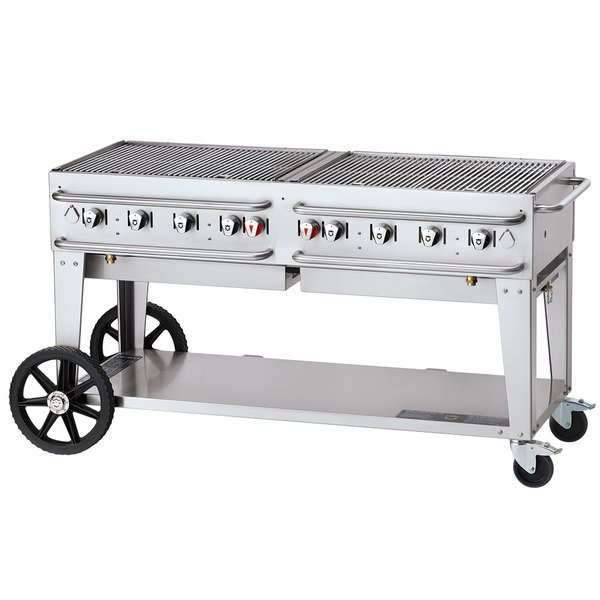 """Crown Verity CV-RCB-60-SI-BULK 60"""" Pro Series Outdoor Rental Grill with Single Gas Connection and Bulk Tank Capacity Main Image 1"""