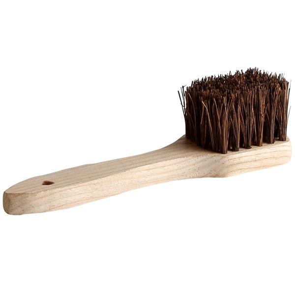 12 Palmyra Bristled Wok Brush With Wood Handle
