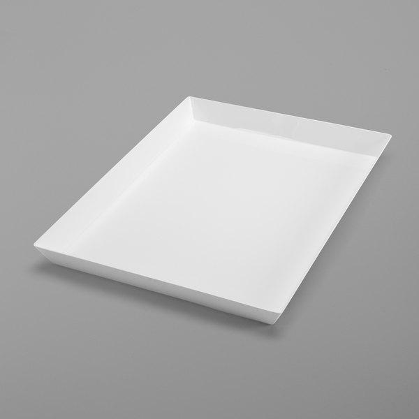"Delfin BKL-2418-20 24"" x 18"" White Rectangular Basket Liner Main Image 1"