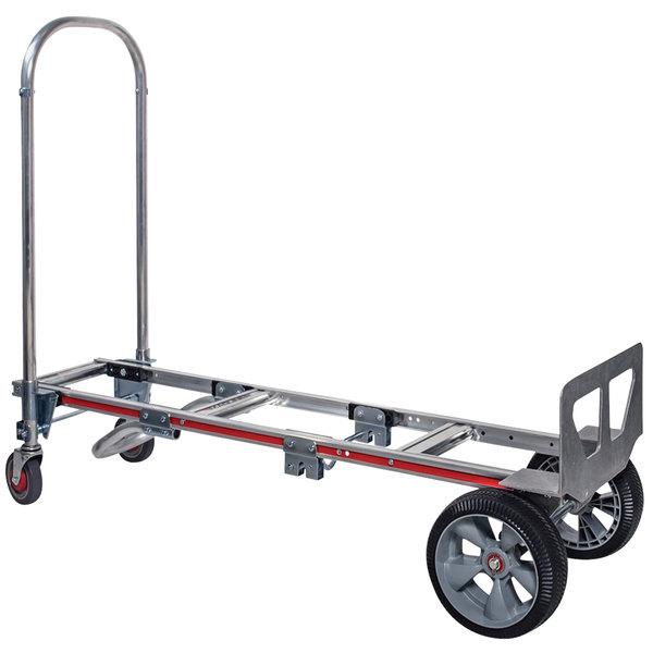 Interlocked Microcellular Wheels 55-3//4 Length x 21 Width x 61 Height Magliner GMK81UAE Convertible Hand Truck 500 lb Load Capacity