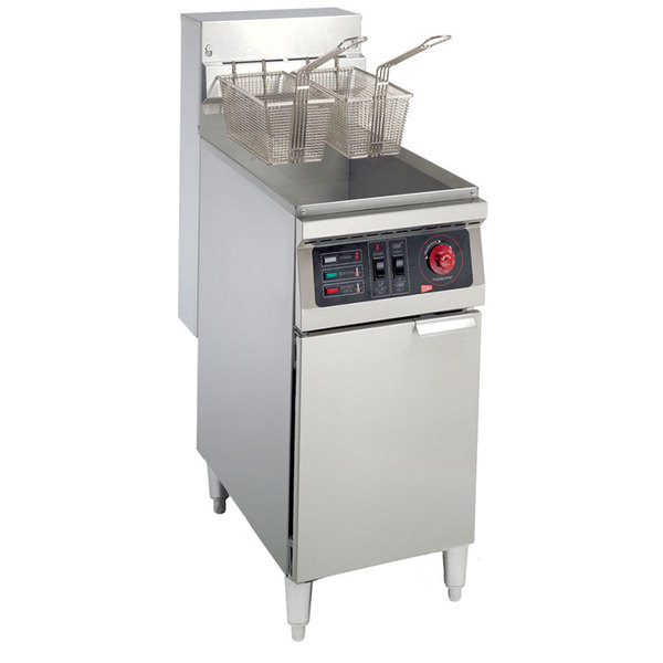 Cecilware EFS-40 Heavy Duty 40 lb. Electric Fryer with Stainless Steel Tank - 208V, 3 Phase, 18000W