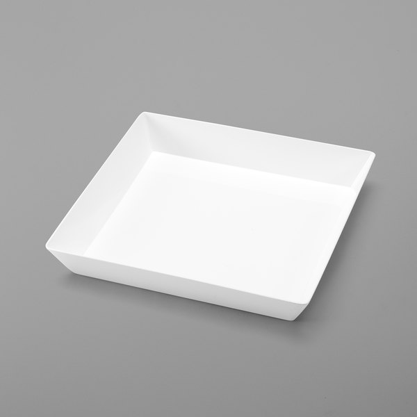 "Delfin BKL-12-20 12"" x 12"" White Square Basket Liner Main Image 1"