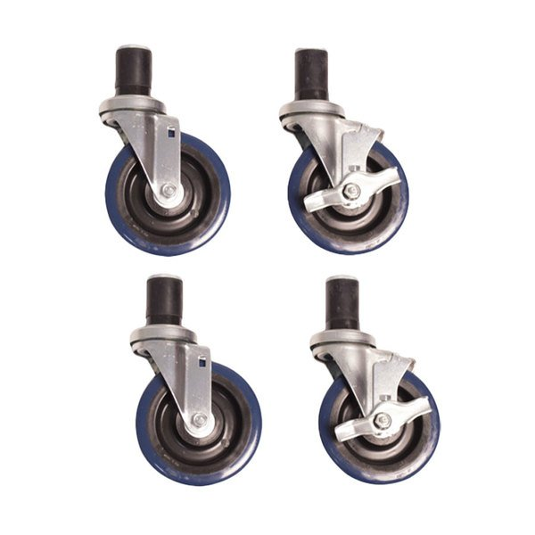 Advance Tabco TA-255 Heavy Duty Caster Set for Equipment Stands - 4/Set Main Image 1