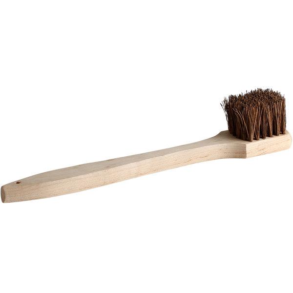 20 Palmyra Bristled Wok Brush With Wood Handle