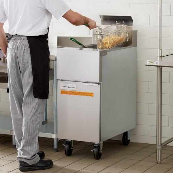 Frymaster GF14 Natural Gas Floor Fryer 40 lb. Main Image 6