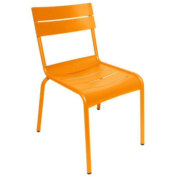BFM Seating PH812CCT Beachcomber Citrus Stackable Aluminum Outdoor / Indoor Side Chair Main Image 1
