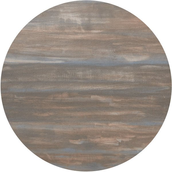 """BFM Seating CS48R Relic Chestnut 48"""" Round Melamine Table Top with Matching Edge Main Image 1"""