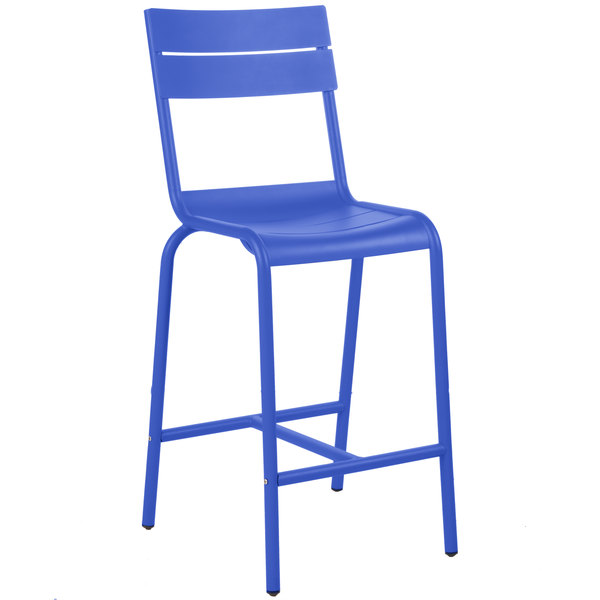 BFM Seating PH812BBY Beachcomber Berry Aluminum Outdoor / Indoor Bar Height Chair Main Image 1