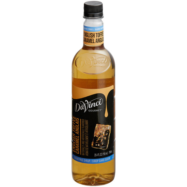 DaVinci Gourmet 750 mL Sugar Free English Toffee Flavoring Syrup