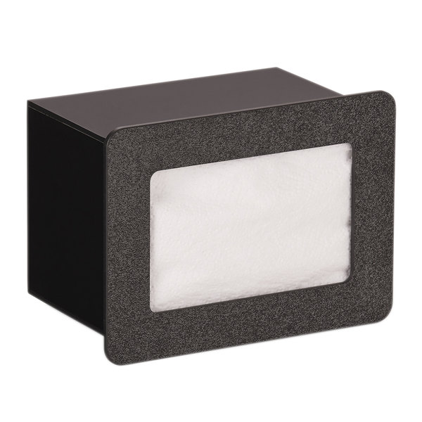 """Vollrath FMN-1 In-Counter Black Thermoplastic Flush Mount Folded Napkin Dispenser - Cut-Out Dimensions - Cut-Out Dimensions 7 9/16"""" x 5 5/16"""" Main Image 1"""
