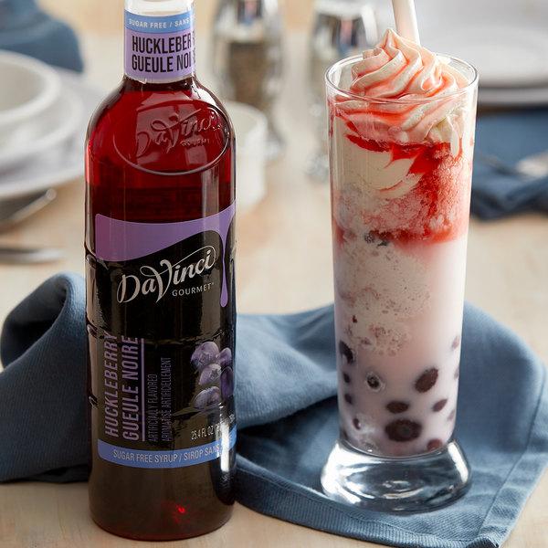 DaVinci Gourmet 750 mL Sugar Free Huckleberry Flavoring / Fruit Syrup Main Image 2