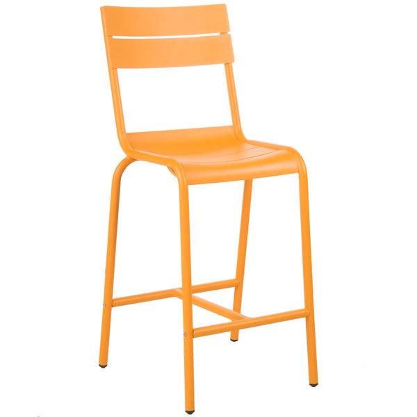 BFM Seating PH812BCT Beachcomber Citrus Aluminum Outdoor / Indoor Bar Height Chair Main Image 1