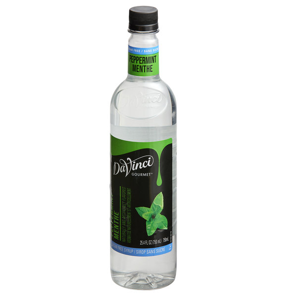 DaVinci Gourmet 750 mL Sugar Free Peppermint Flavoring Syrup