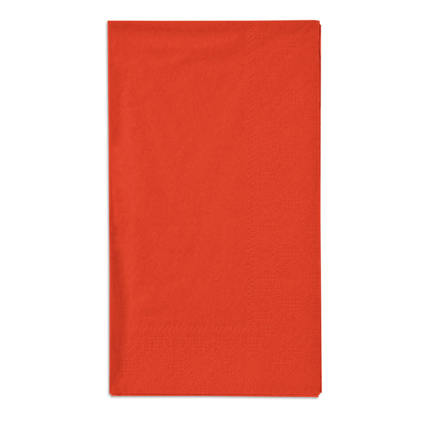 Bittersweet Orange Paper Dinner Napkins, 2-Ply, 15 inch x 17 inch - Hoffmaster 180508 - 1000/Case