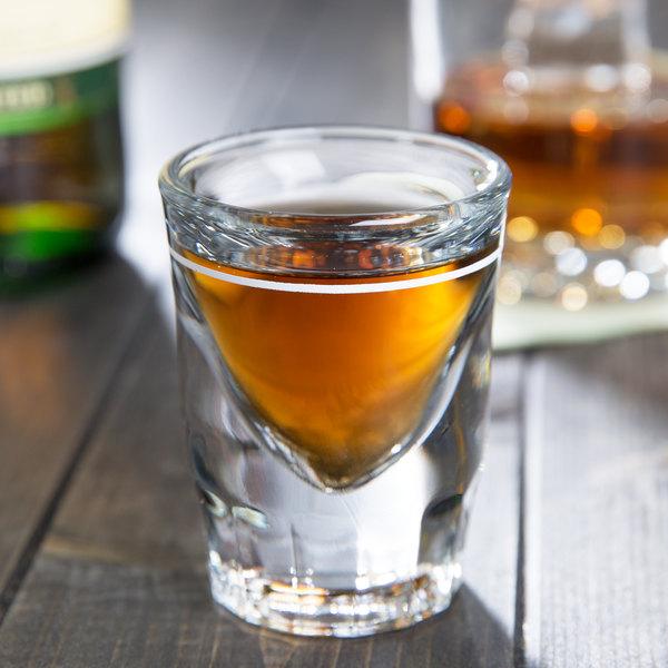Anchor Hocking 5281/931U 1.5 oz. Whiskey / Shot Glass with .75 oz. Cap Line - 12/Case Main Image 2