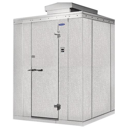 """Rt. Hinged Door Nor-Lake KODB7766-C Kold Locker 6' x 6' x 7' 7"""" Outdoor Walk-In Cooler"""